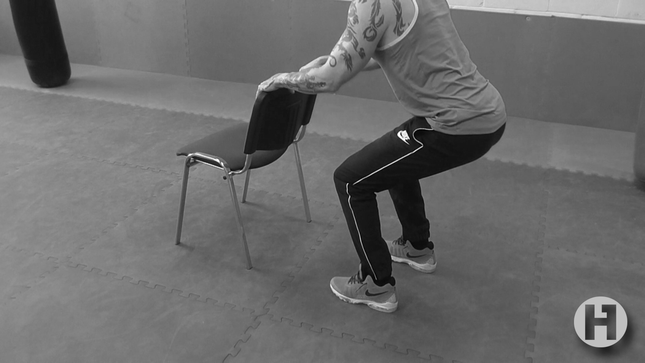 Supported Half Squat Virtual Hone Gym